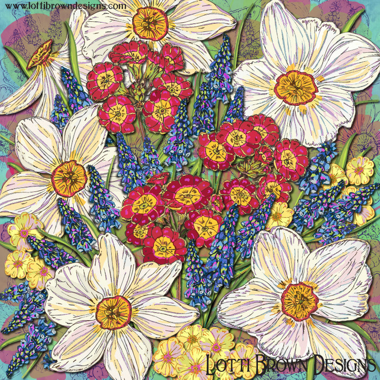 Spring Flowers Art Behind The Scenes Lotti Brown Designs