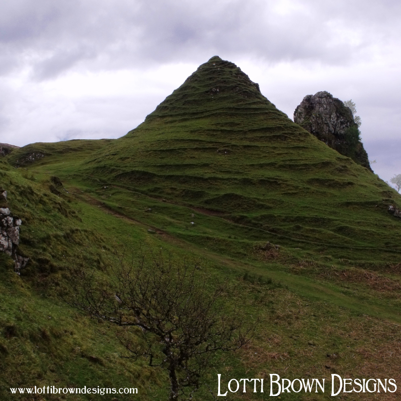 Intriguing landscape formations at the Fairy Glen on Skye