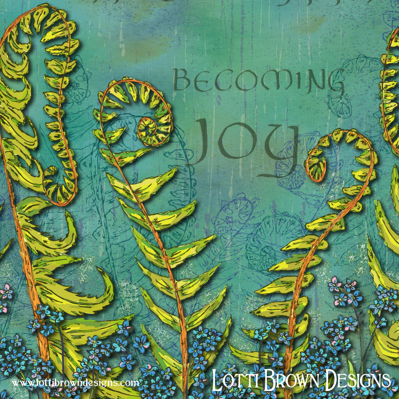 Becoming Joy - detail from the artwork