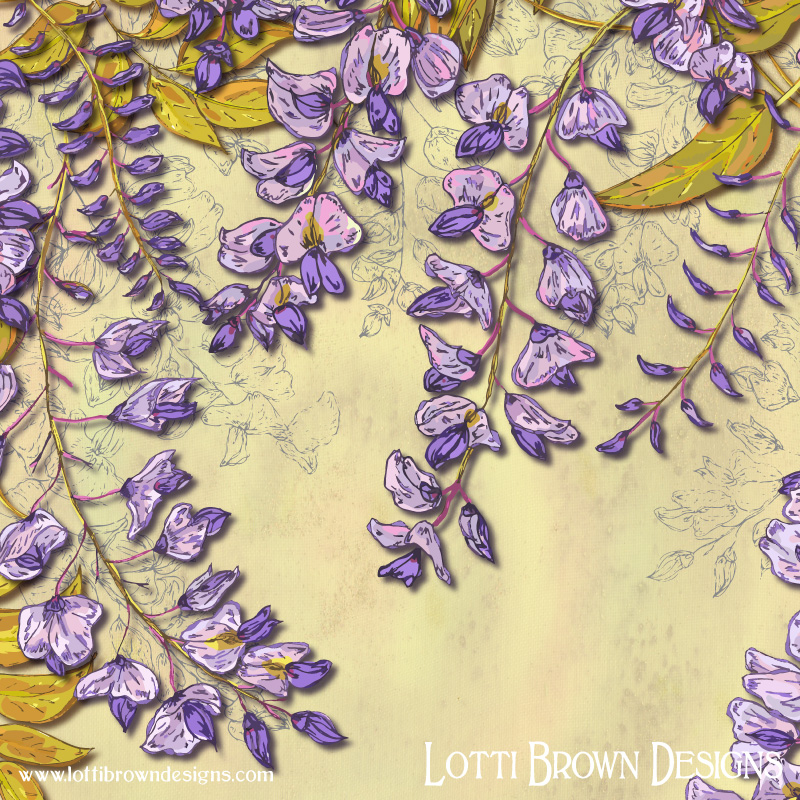 Detail from the wisteria artwork