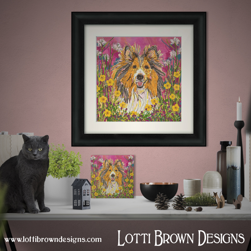 Pet art and custom pet portraits by Lotti Brown