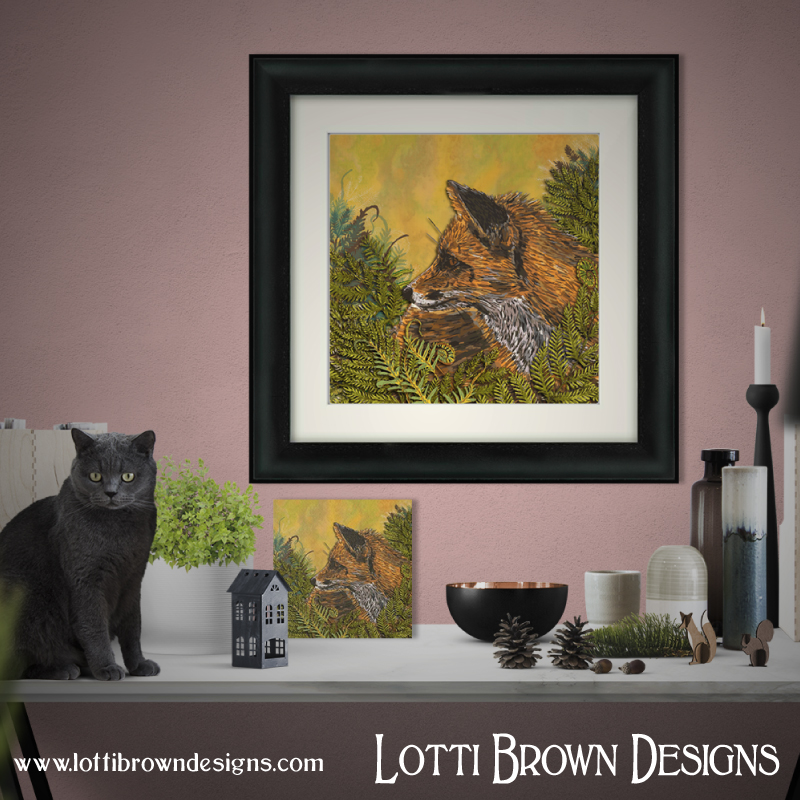 Ferny Fox art print