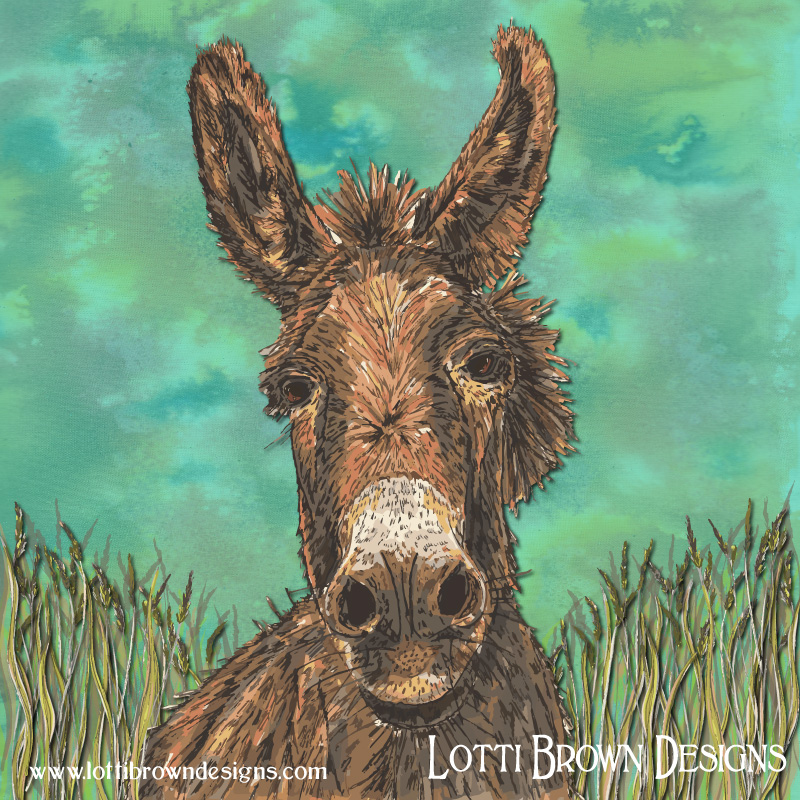 Donkey art by Lotti Brown