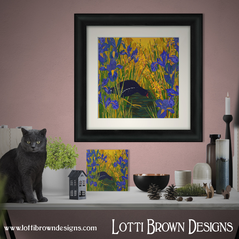 Bird, nature and pet fine art giclee prints are available now from the Lotti Brown online art store