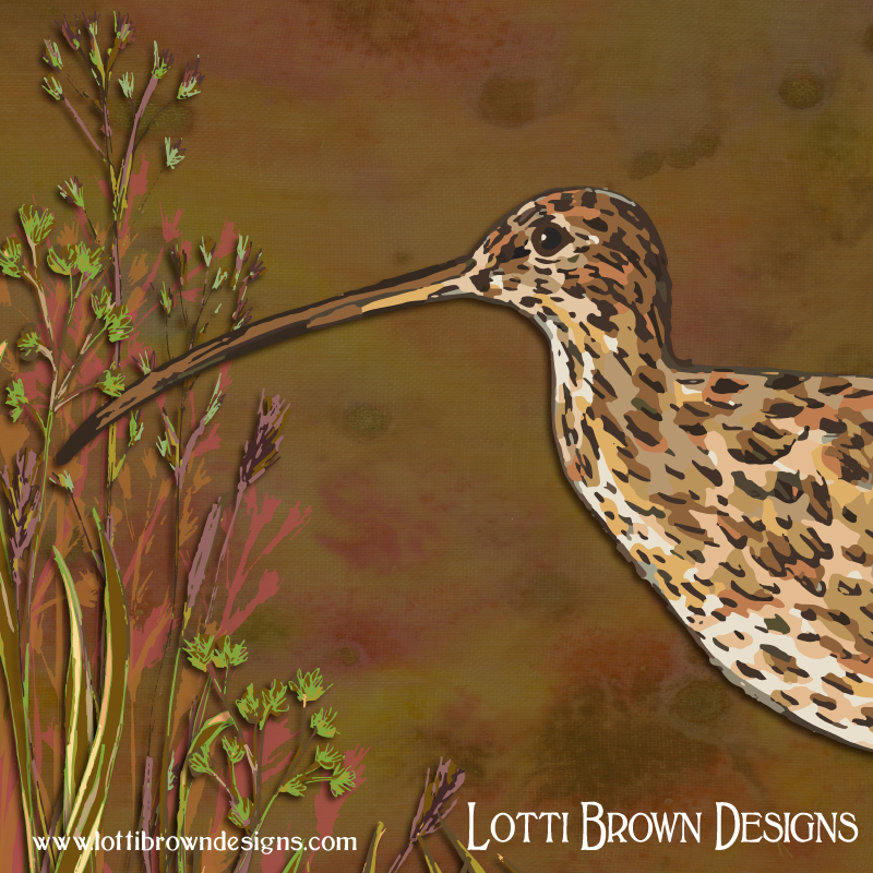 Detail from the curlew artwork