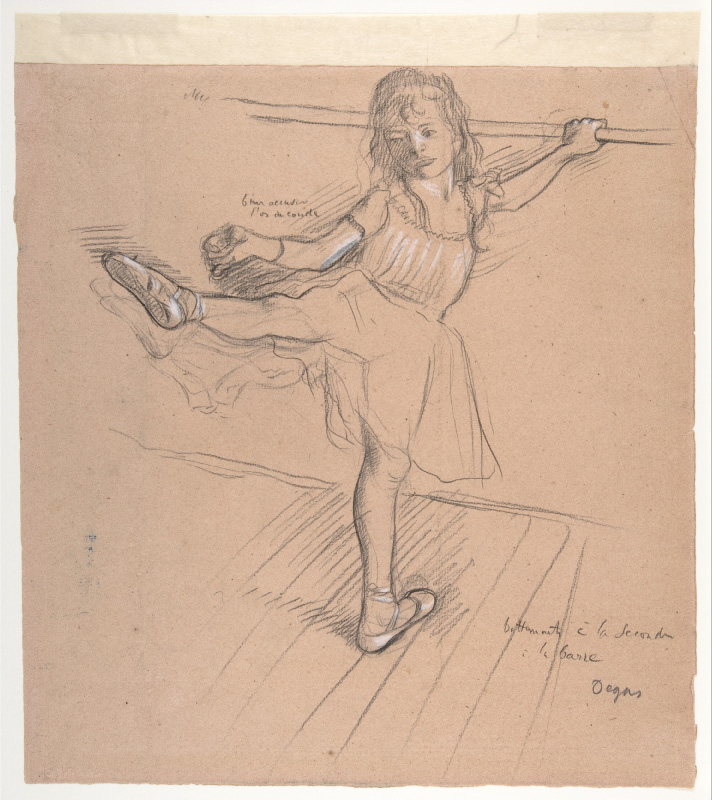 Drawing by Edgar Degas, ca. 1878-80, chalk and graphite. H. O. Havemeyer Collection, Bequest of Mrs. H. O. Havemeyer, 1929