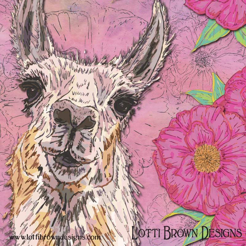 Llama art detail