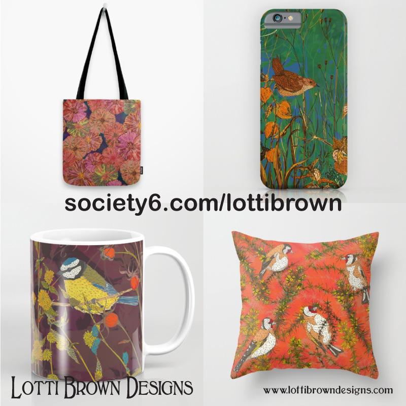 Society6 - Homewares and accessories including rugs, towels and even furniture.International delivery (furniture currently delivered within USA only)Click here to browse Lotti Brown at Society6