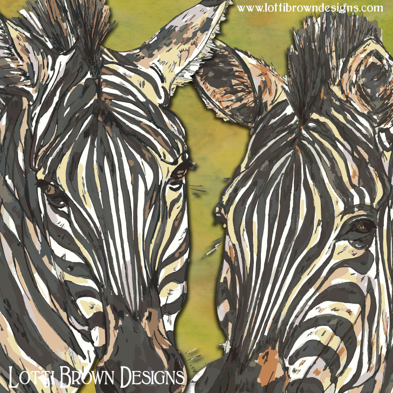 Detail from the zebra artwork
