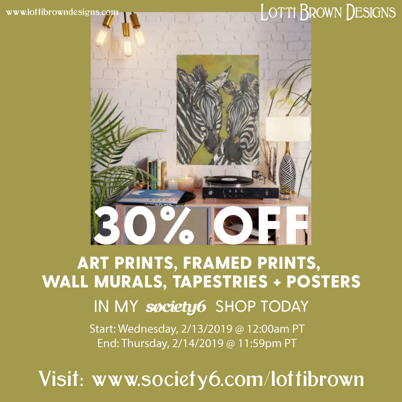 30% off for a limited time at www.society6.com/lottibrown