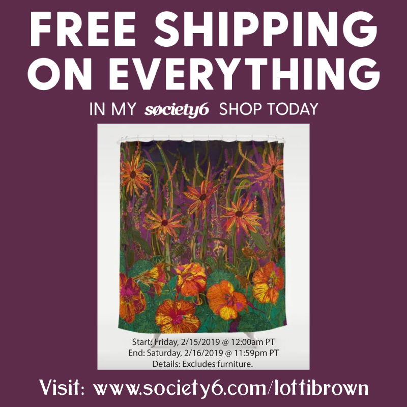 Free Shipping limited time offer at www.society6.com/lottibrown
