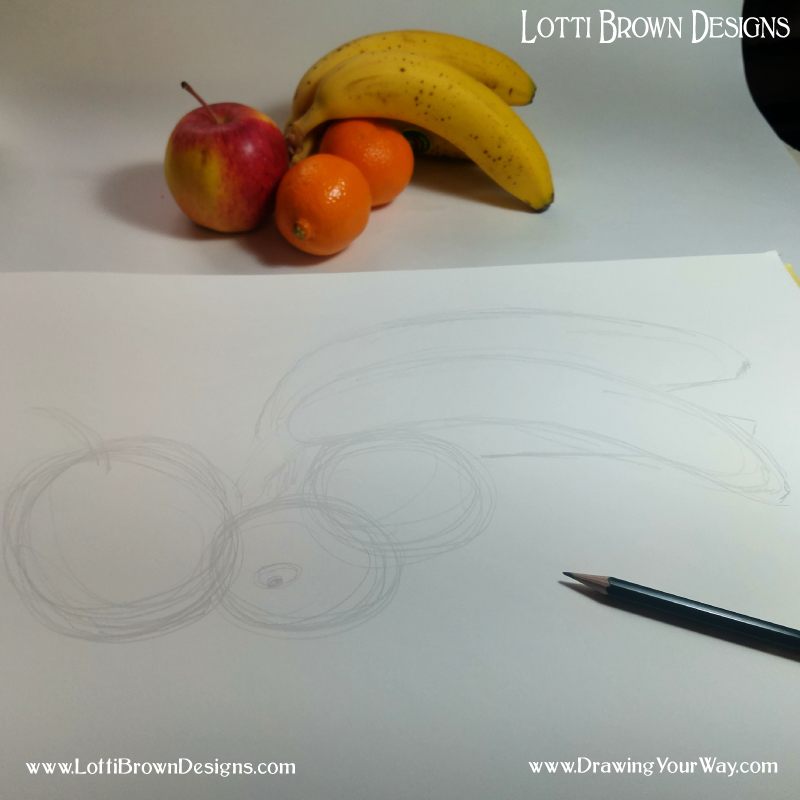 A rough sketched outline is an easy way to get your drawing started