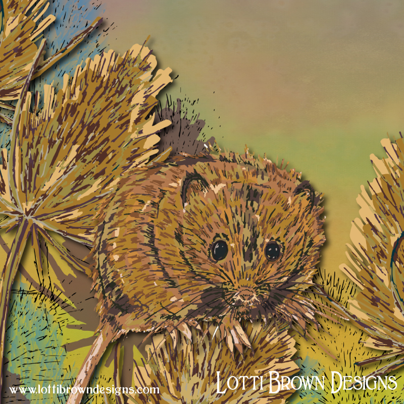Detail from my harvest mouse artwork