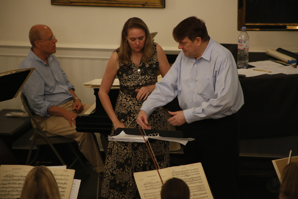 Dennis Keene with 2015 Conducting Fellow Renee Anne Louprette