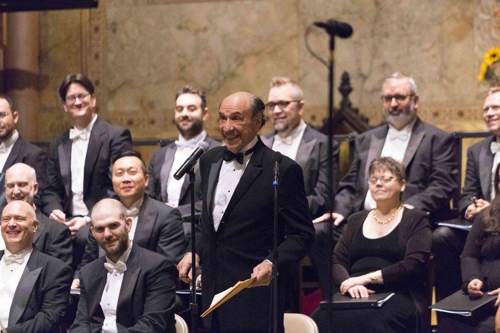 F. Murray Abraham opens VoA's Amadeus Concert, November 15, 2018. Mozart  Requiem ; Salieri  De Profundis ;  Kraus Requiem