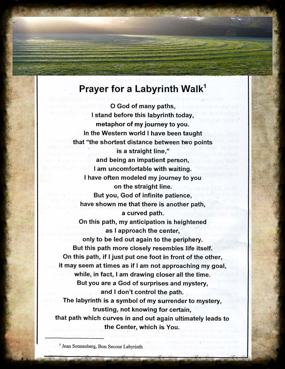 Prayer for a Labyrinth Walk