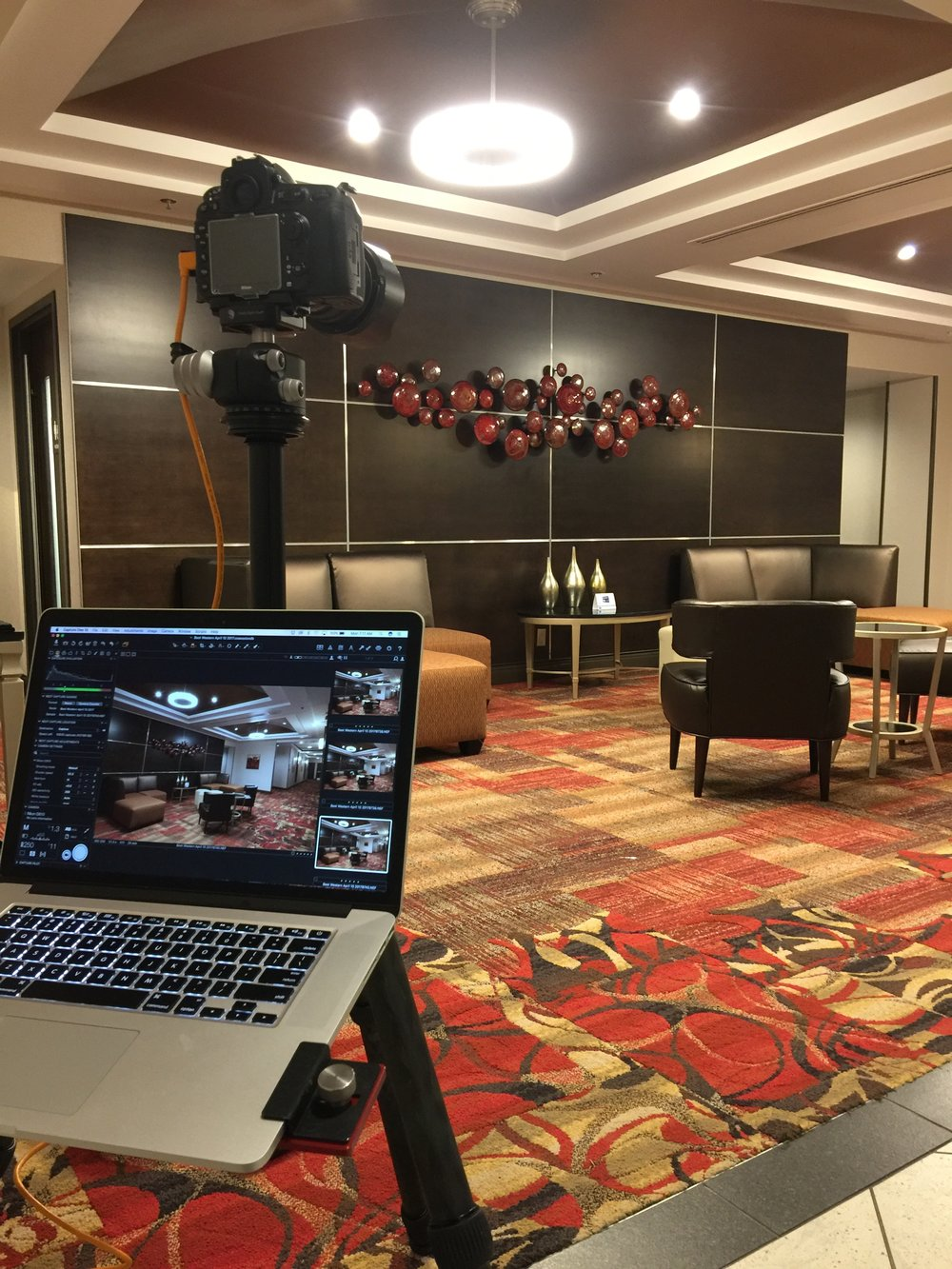 Behind the scenes of the shoot with Best Western Premier