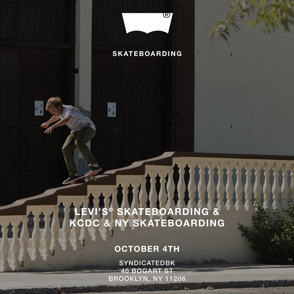 NYSkateboarding.com & KCDC skate shop will be showing the new Levi's Mexico park build video - Skateboarding in Puerto Peñasco. It documents the building of a skate park in Puerto Peñasco, Mexico with the locals and the Levi's skate team. Come join us (9pm - 11pm) for drink specials, giveaways and meet some of the skateboarders involved in the project.