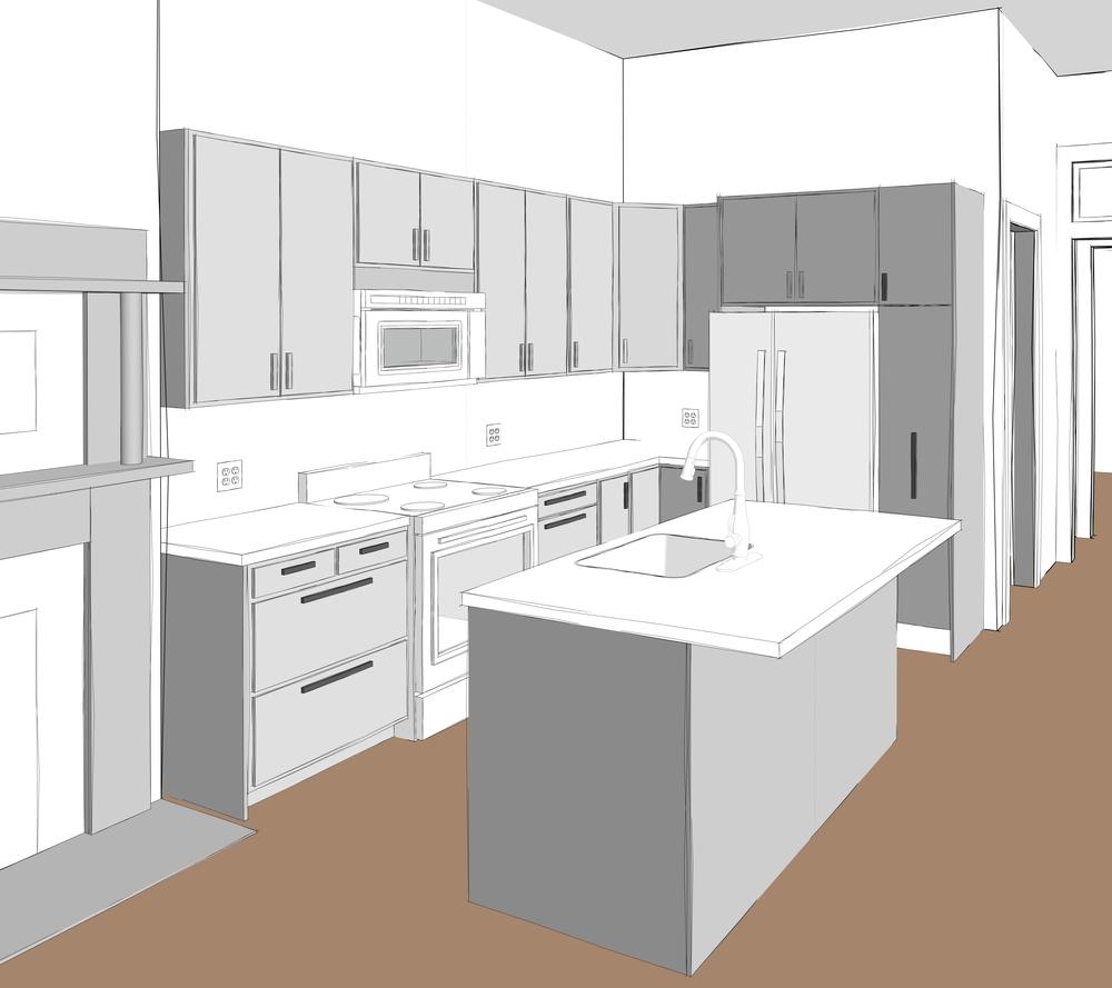Kitchen Design Rendering: MVW Architect Llc