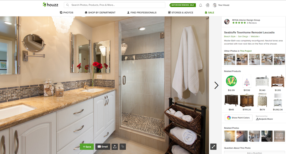 Houzz Highlights Our Seabluffe Beach Townhome Remodel