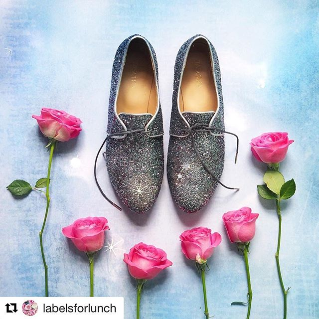 Hello sparkles!  Always such pretty photos @labelsforlunch 😘 thanks for capturing the true essence of our LAX lace ups ✨#Fun #Shoes #SOTD #ShoeGame ・・・ Dancing shoes ❤️ have a wonderful evening everyone 😘🙌🏻😍🌈 @taschkashoes