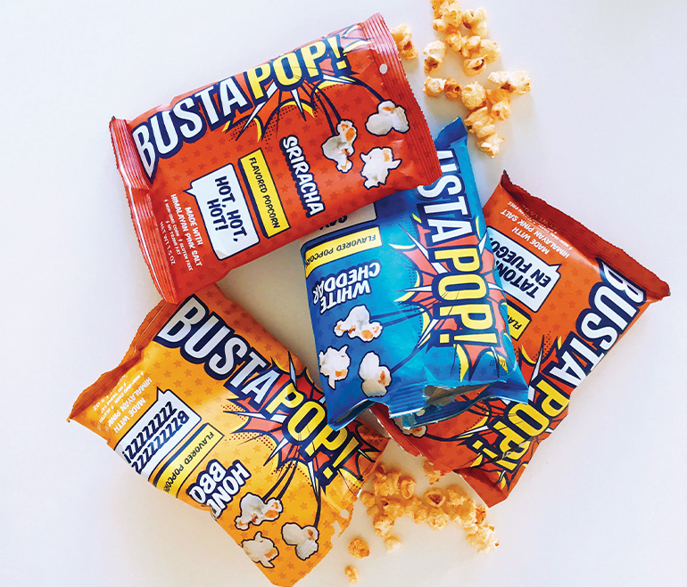 BustaPOP!  Logo Design, Brand Development, Packaging