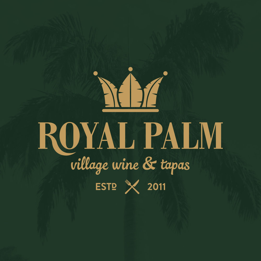 Royal Palm Village Wine & Tapas  Logo Design, Brand Development