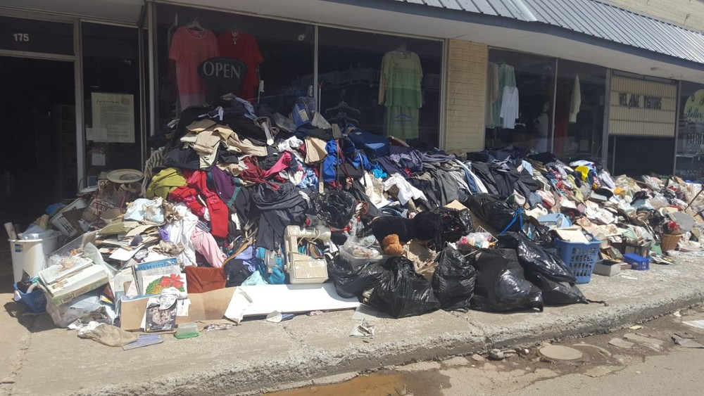 Thrift store owned by an Adventist family was covered in 4 ft of water and had to be cleaned out