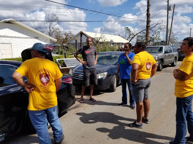 Gulf States and South-Central conferences meet to discuss how they will set up Maranatha SDA Church as a Distribution site for an area heavily impacted by Michael.
