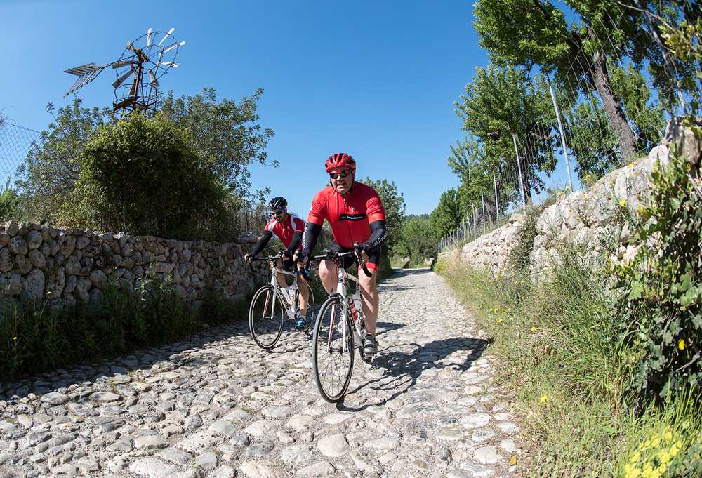 Cobbles on the back roads of Mallorca.