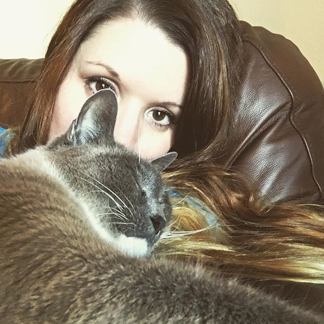 I exist merely for him to sleep on. #catsofinstgram #george