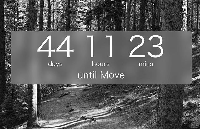 Not that I'm counting. #badneighbors #movingup