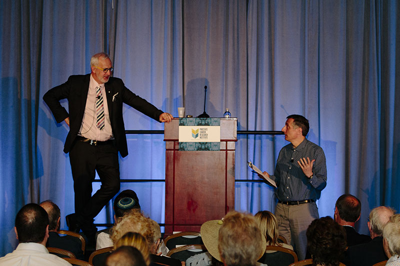 Laurence Klotz, MD, during Q+A with Mark Moyad, MD