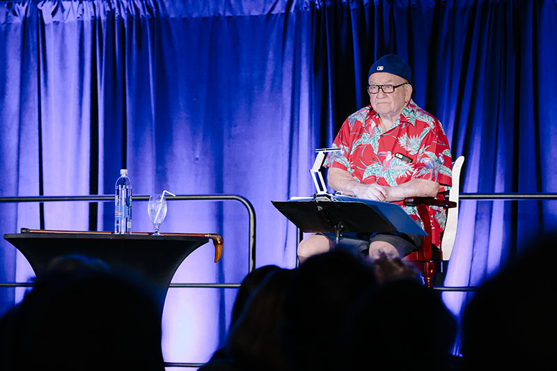 "Ed Asner performing ""A Man and His Prostate"""
