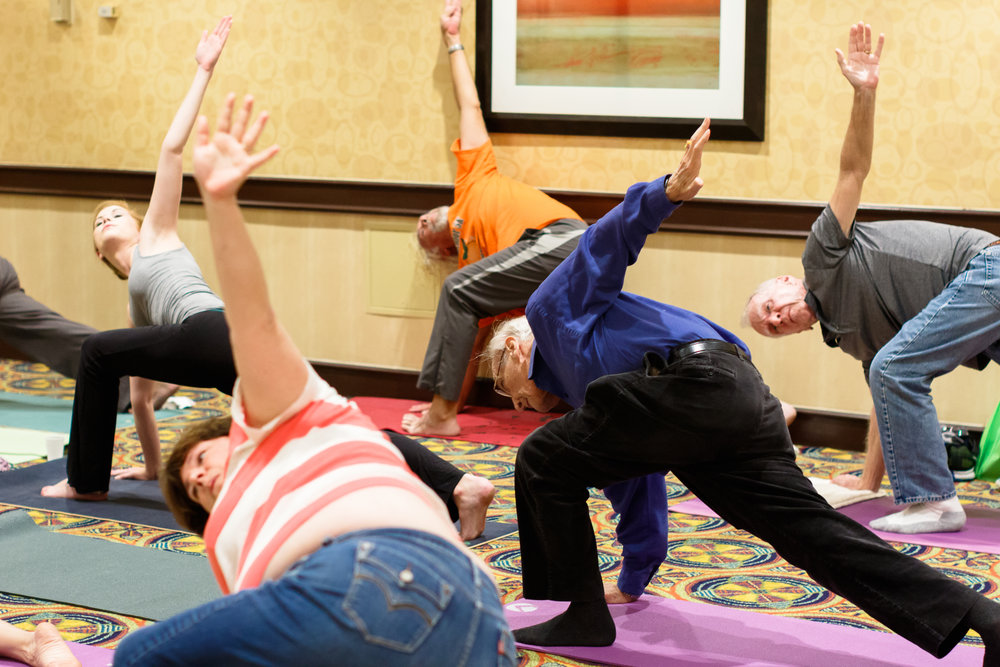 Free yoga session for patients and caregivers