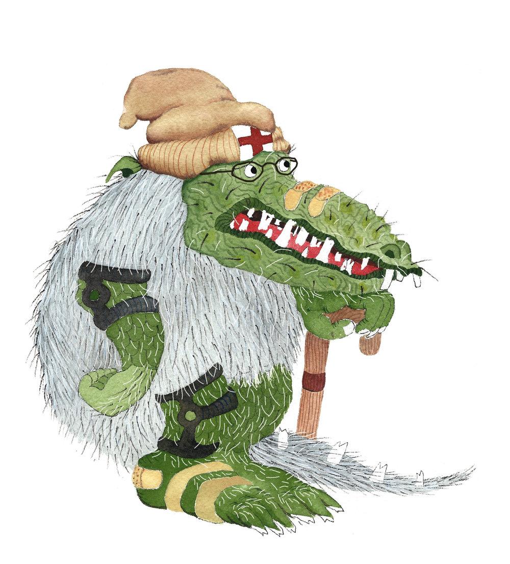 Old Green Hairy Monster