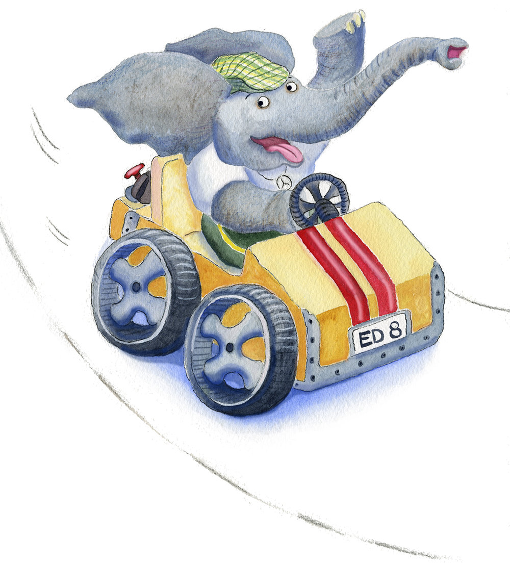 Ed has a new go-kart!