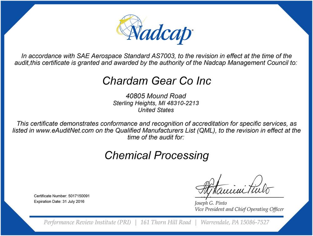 nadcap chemical processing