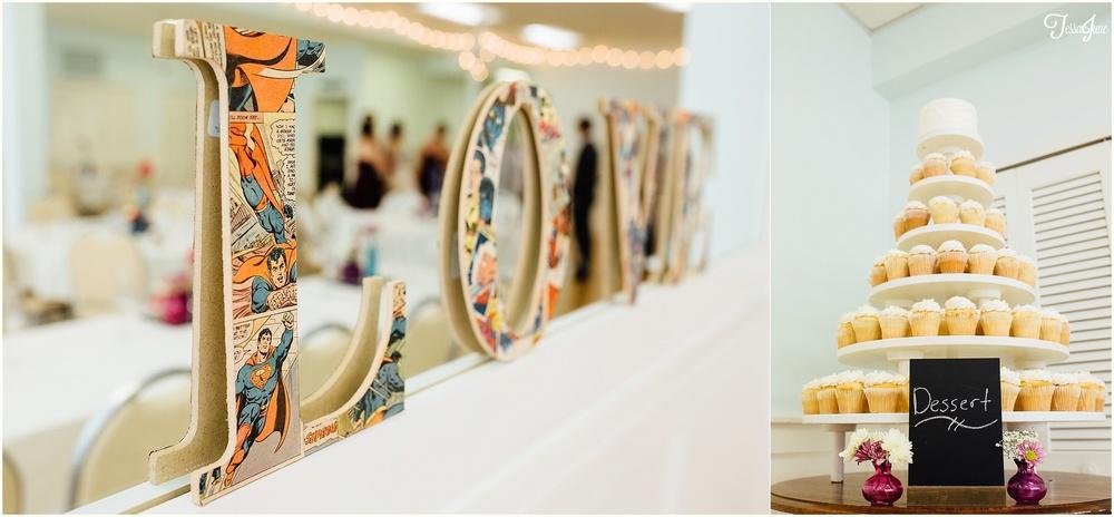 The-Woods-Chapel-Curtis-Wedding-Minnesota-Super-Hero-Decoration