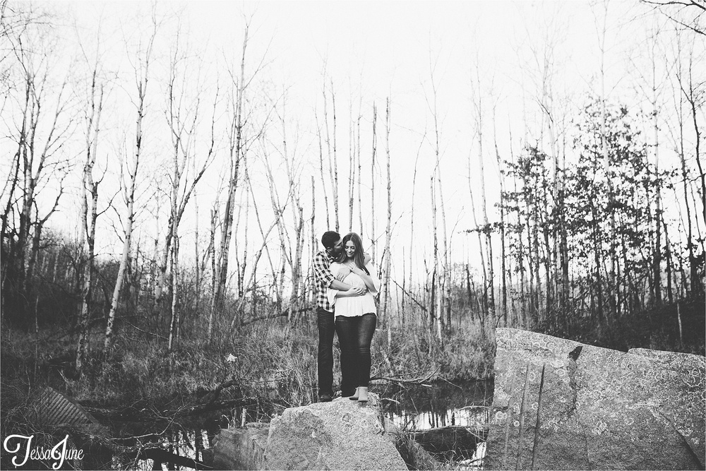 st-cloud-minnesota-waite-park-quarry-engagement-dog-fall-cliff