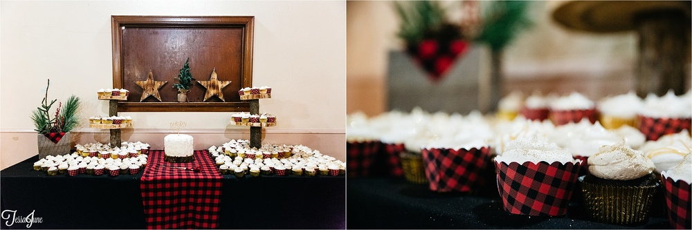 st-cloud-minnesota-wedding-photography-hamburg-winter-buffalo-plaid-rustic-reception-decorations-cupcake