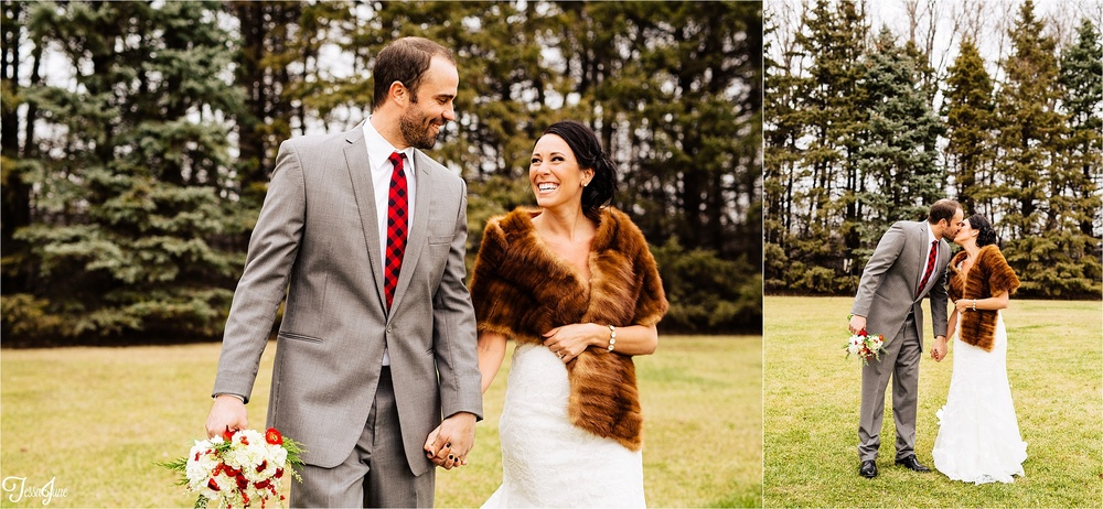 st-cloud-minnesota-wedding-photography-hamburg-winter-buffalo-plaid-rustic-fur-bride-groom