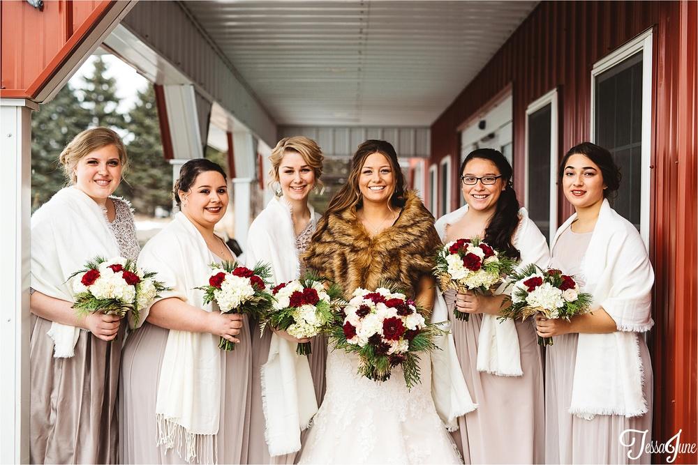 st-cloud-minnesota-wedding-photographer-the-outpost-center-chaska-snow-winter-romantic-bridesmaids