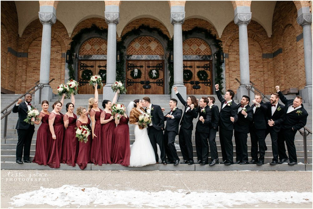 912-regency-plaza-wedding-st-cloud-winter-decemeber-bridal-party-st-marys-catholic-church