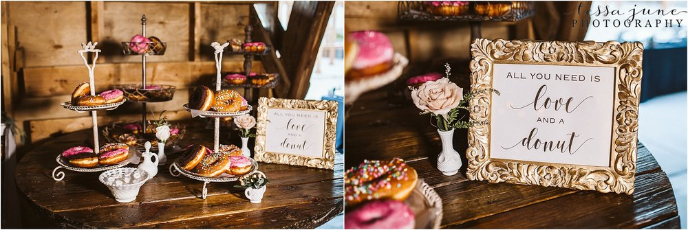 the-cottage-farmhouse-wedding-donut-bar-dessert-reception-decor