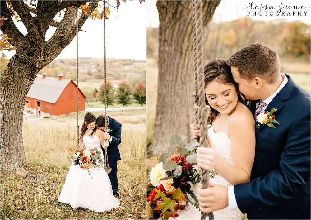birch-hill-barn-october-wedding-wisconsin-swing