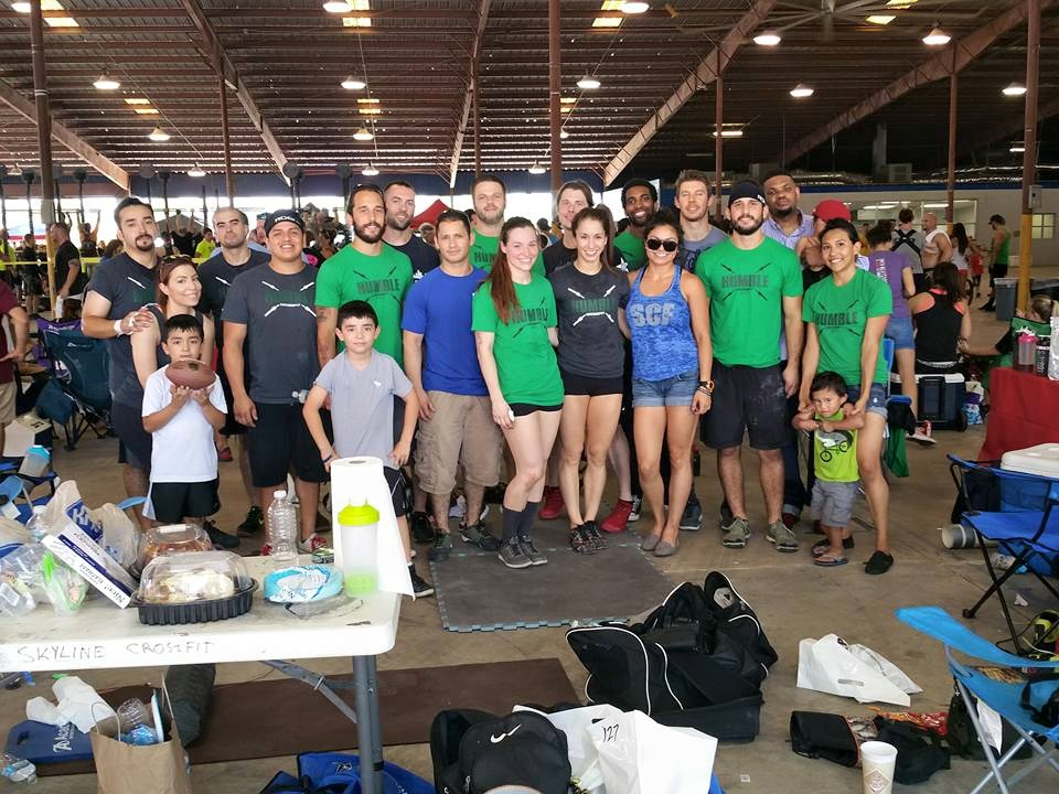 Humble CrossFit  and Skyline CrossFit teamed up at WOD Wars 3 competition in Humble, TX.