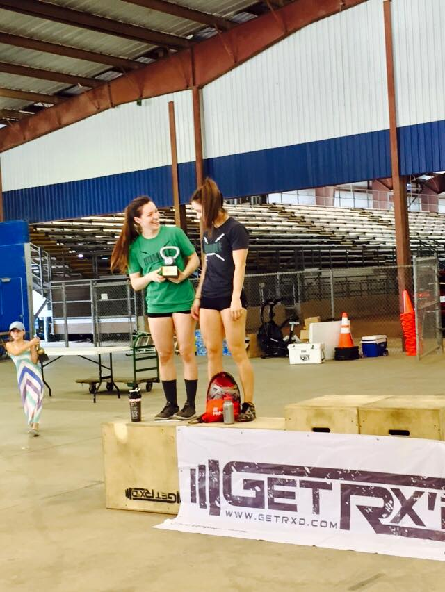 Congrats to our 2nd place team at Wod Wars 3 this past weekend, Susan and Beth