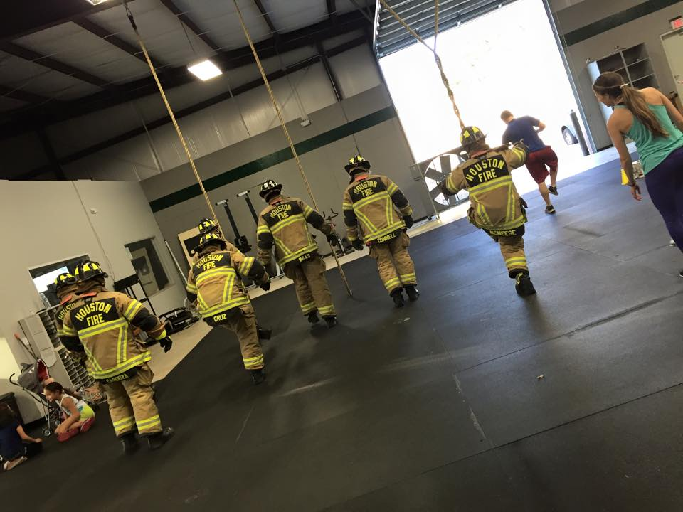 You think your workout out was hard?  Houston Fire Dept. decided to stop in  to Humble CrossFit and give our WOD a try.