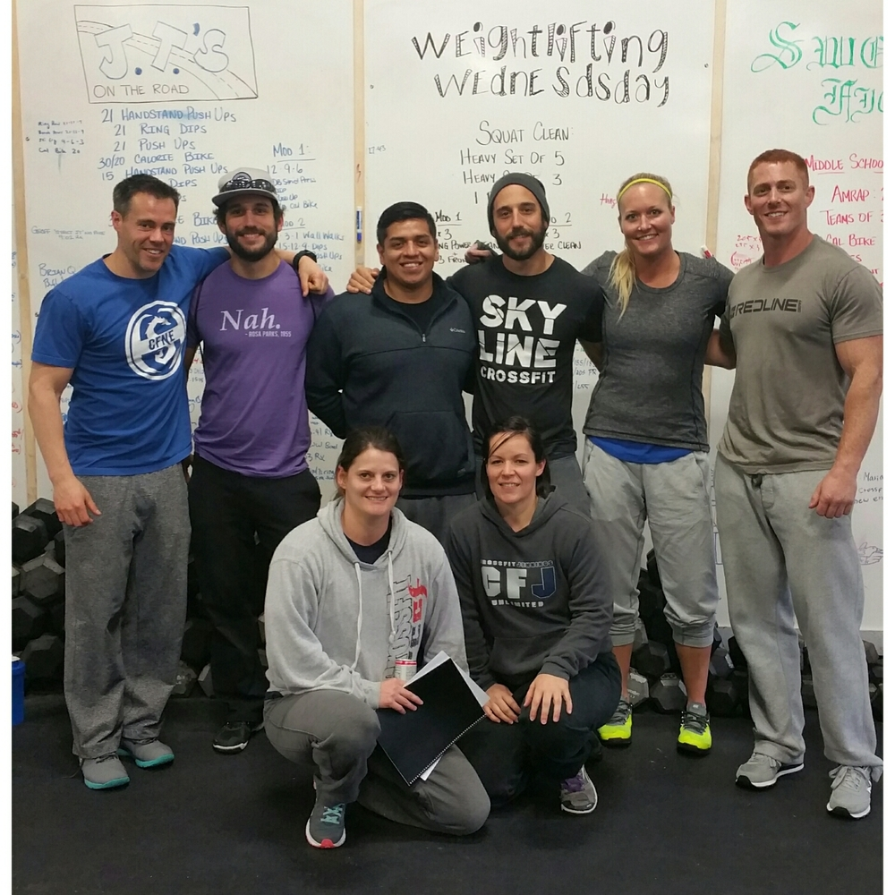 Skyline CrossFit coaches with Ben Bergeron  at the infamous CrossFit New England.
